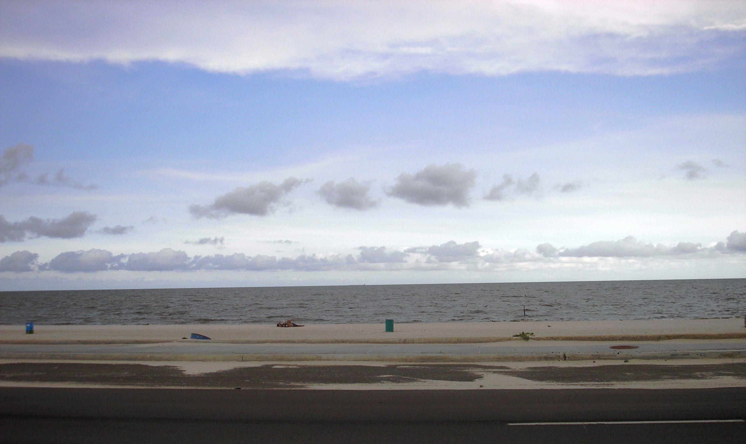 Gulf side of Beach Boulevard August 2008