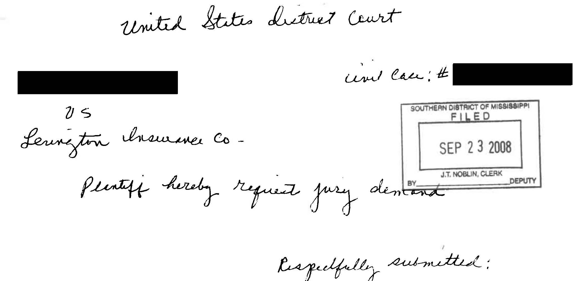 pro se jury demand