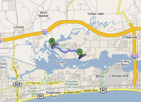 Location of property in Bossier v State Farm relative to McIntosh property.