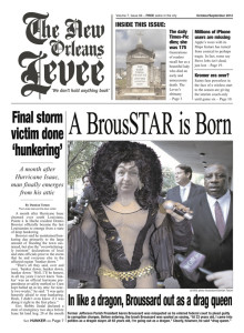 Cover of the latest issue of the New Orleans Levee