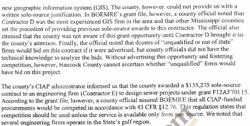 OIG 7-20 DMR Report Excerpt 2