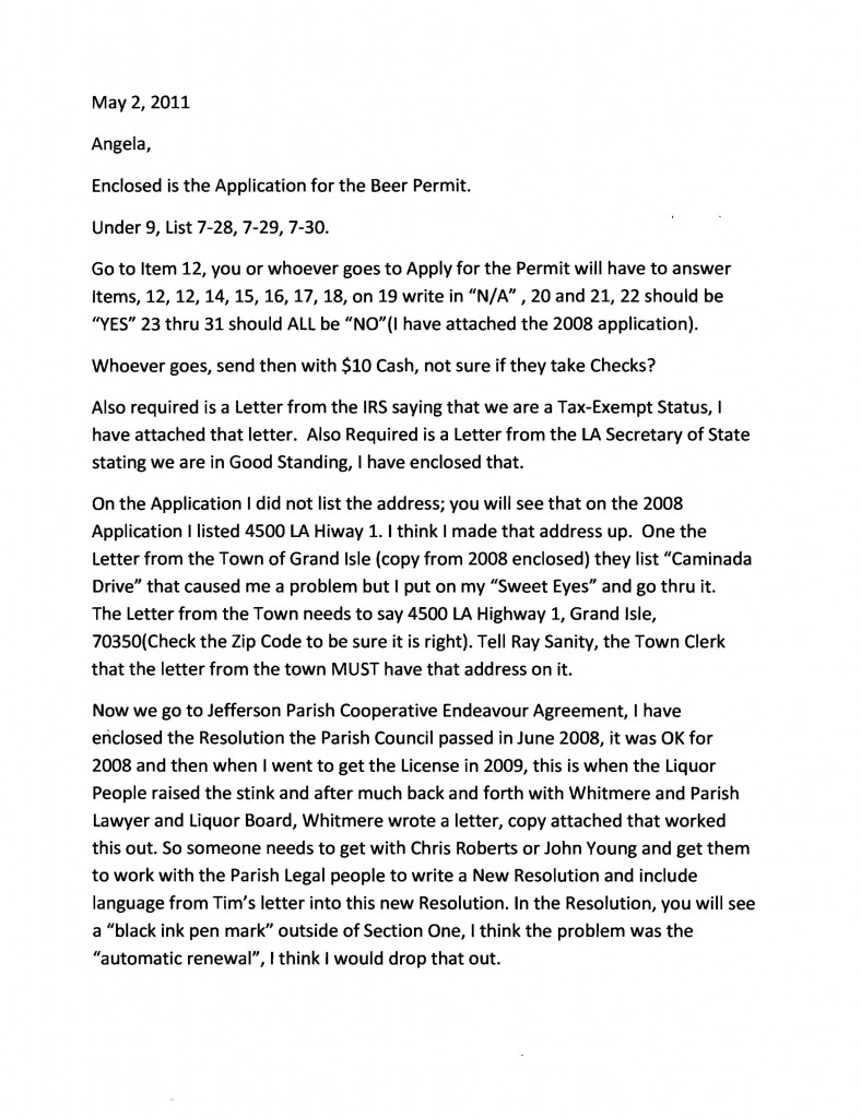 Henry Mouton letter to Pacaccio (redacted)