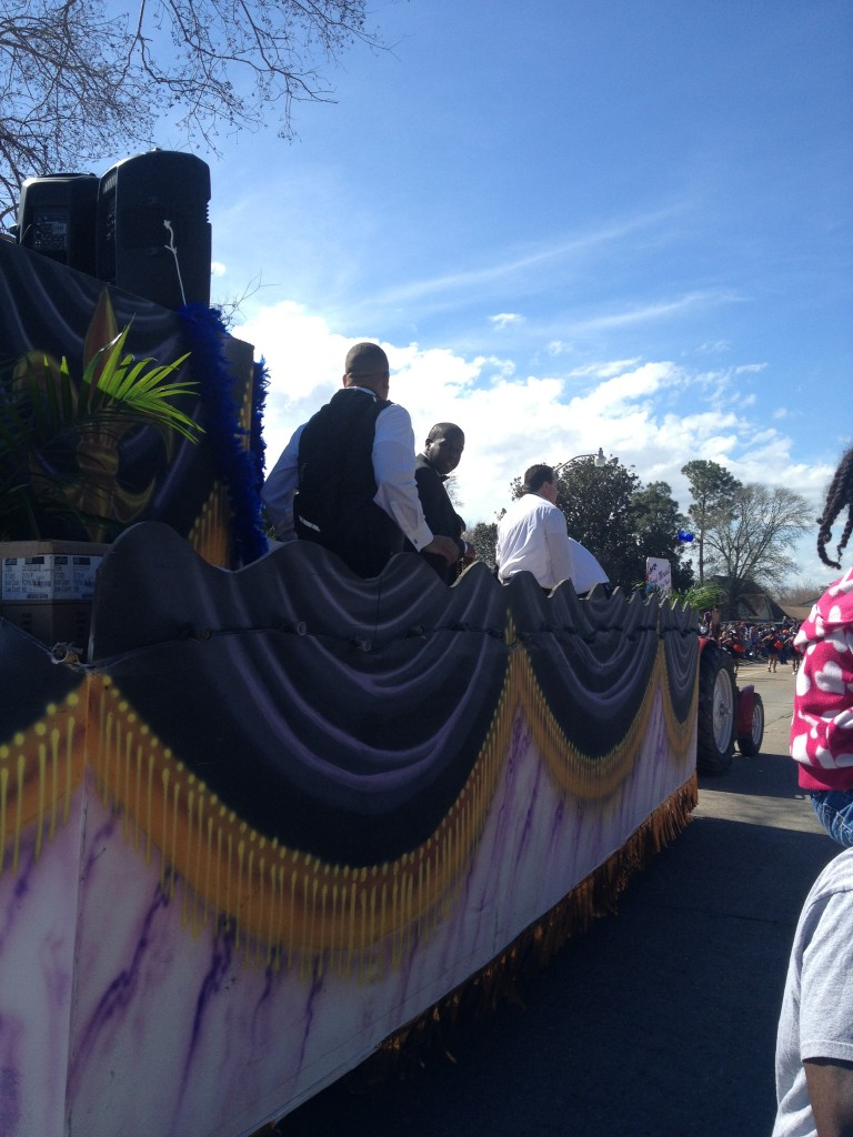Jefferson Parish Councilman Mark Spears riding the politicians float in the Krewe of Alla. Reader submitted photo