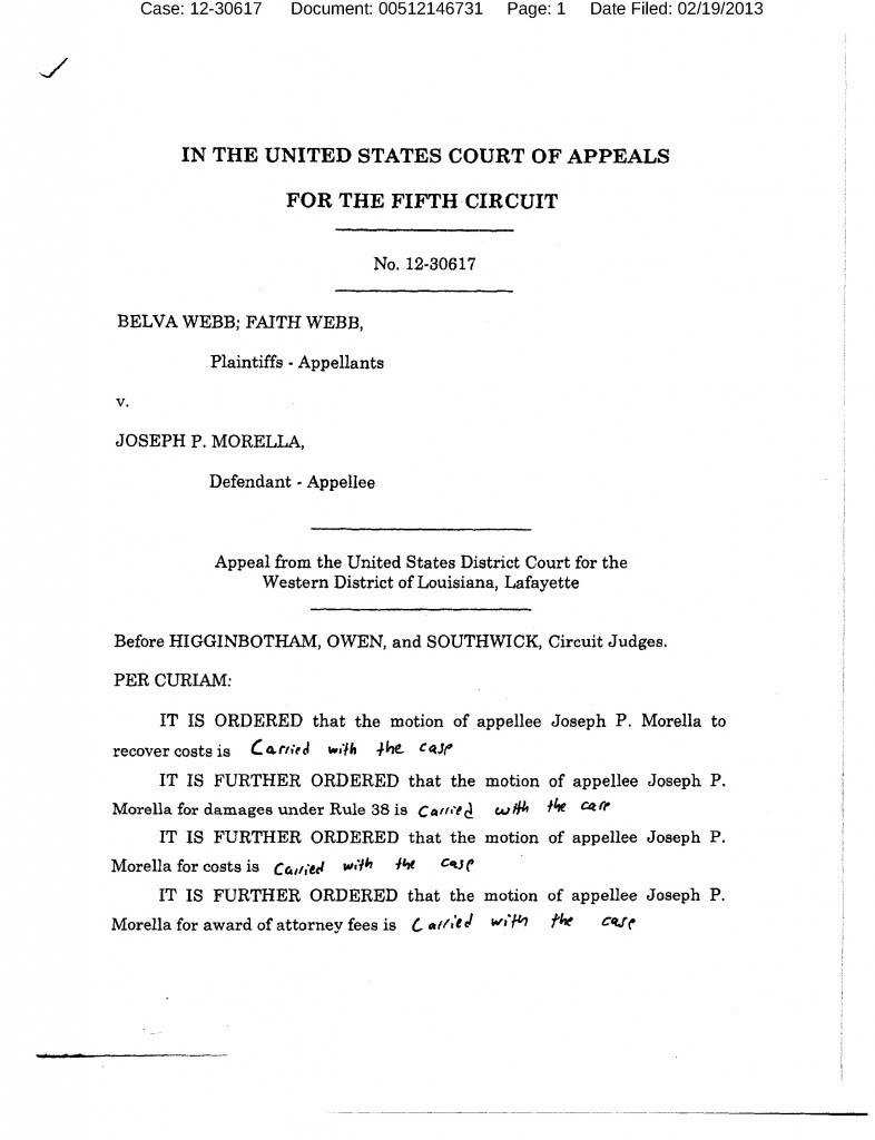 Sanctions Order 5th Circuit Haik Case
