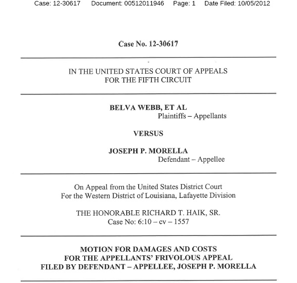 Webb v Morella 5th Circuit Doc 00512011946 Capture 1