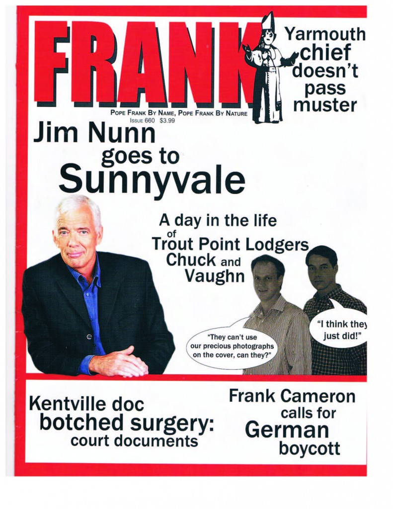 Chuckie and Vaugh on the cover of Frank Magazine
