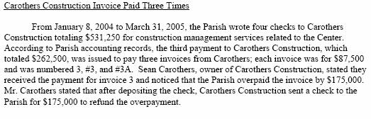 Page24 Excerpt Louisiana Leg Auditor Compliance Audit on JPAC