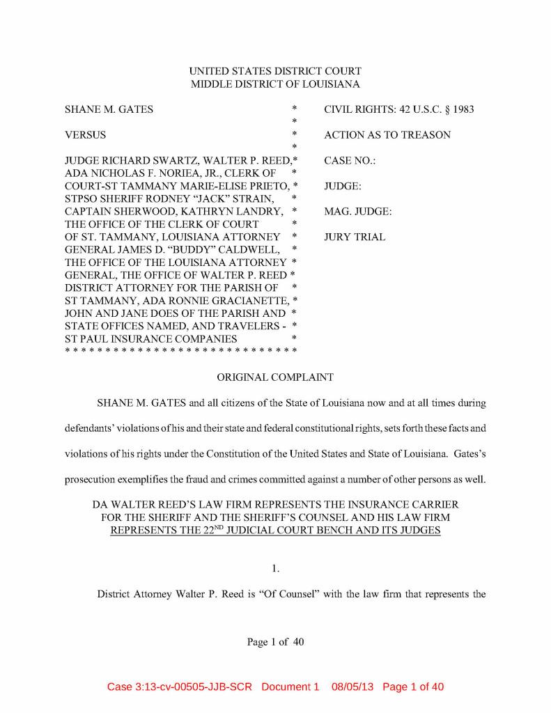 Gates v Schwartz Doc 1