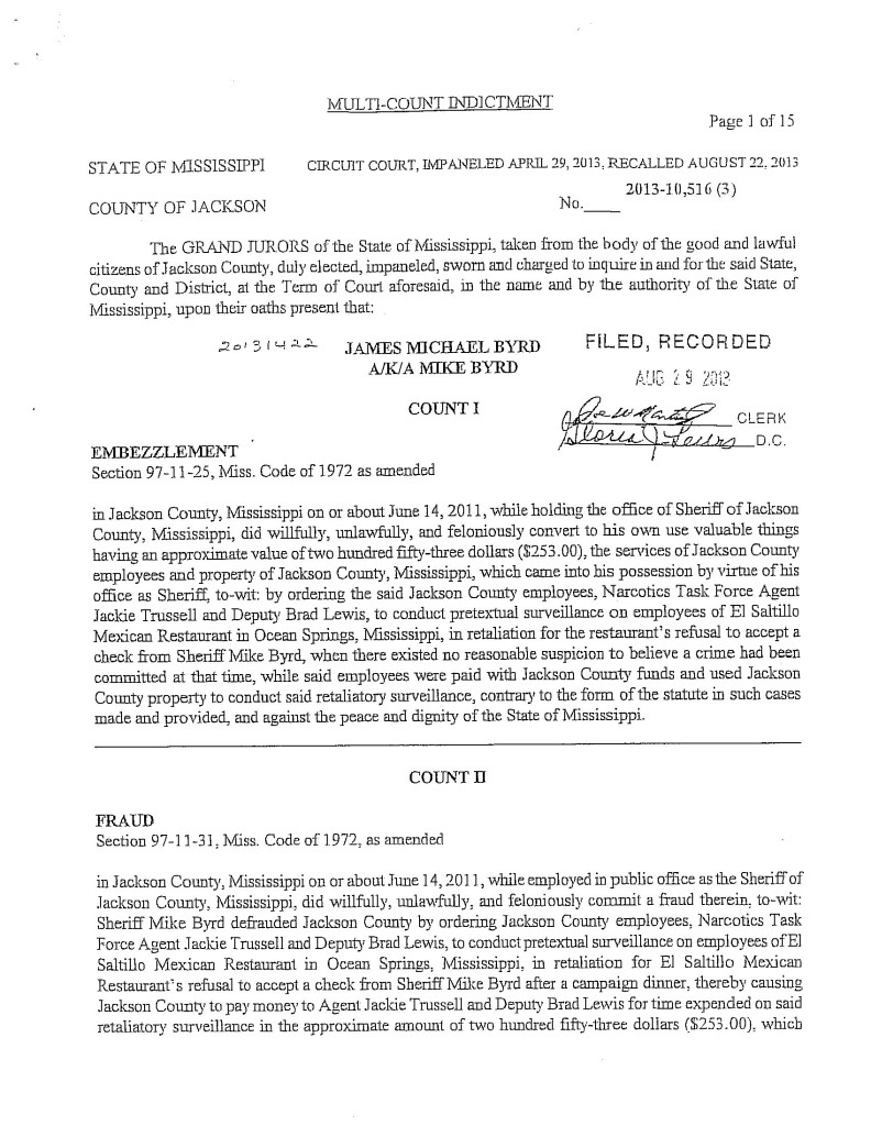 Mike Byrd indictment