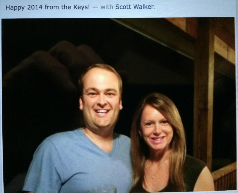 Mr. and Mrs Scott Walker send Holiday greetings via Facebook