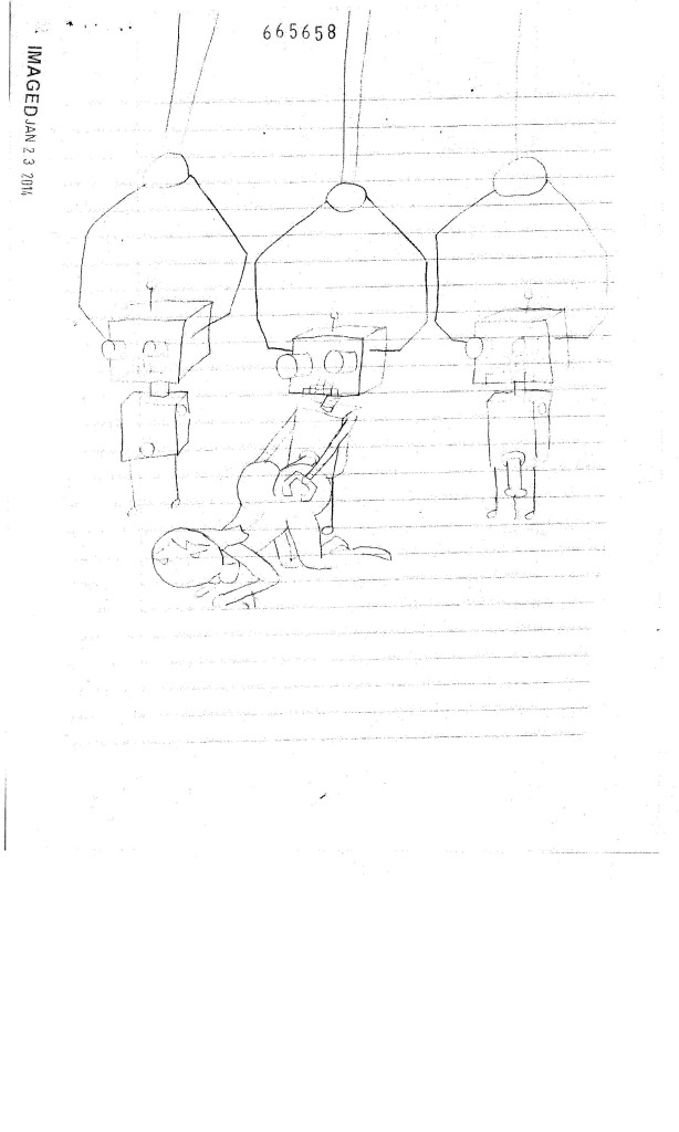 A picture drawn by a minor (male) of acts of sodomy contained in a 24th JDC case. Name withheld to protect the minor.
