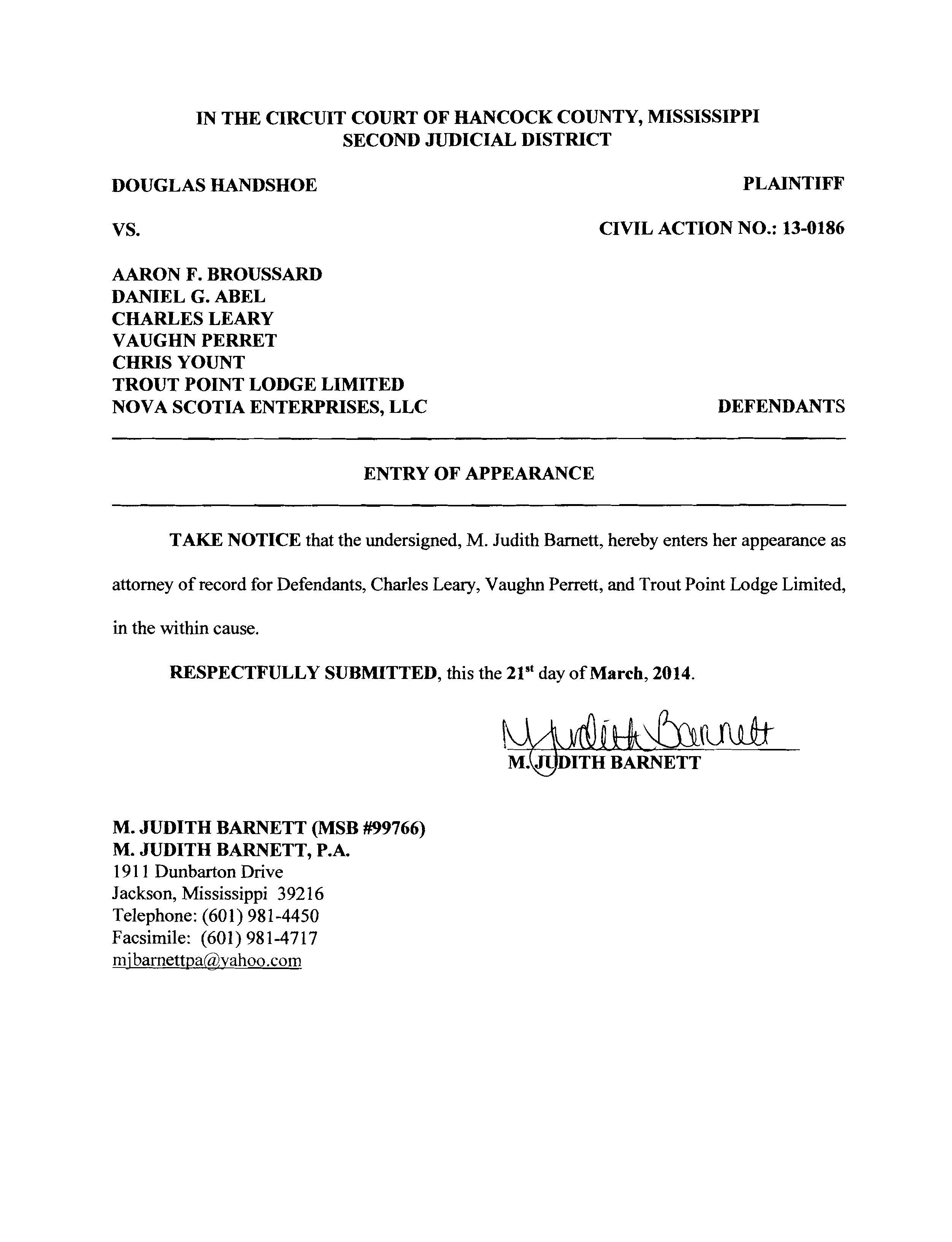 judith barnett attorney