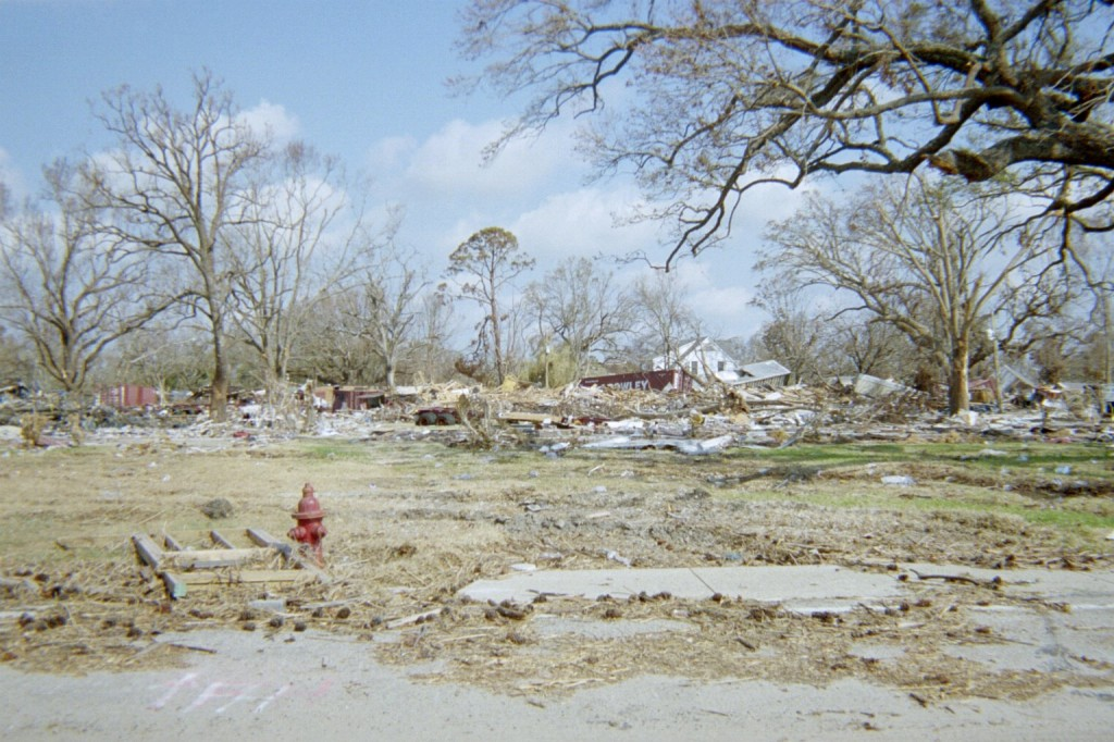 West Gulfport flattened by Port Debris and Hurricane Katrina / Slabbed New Media File Photo