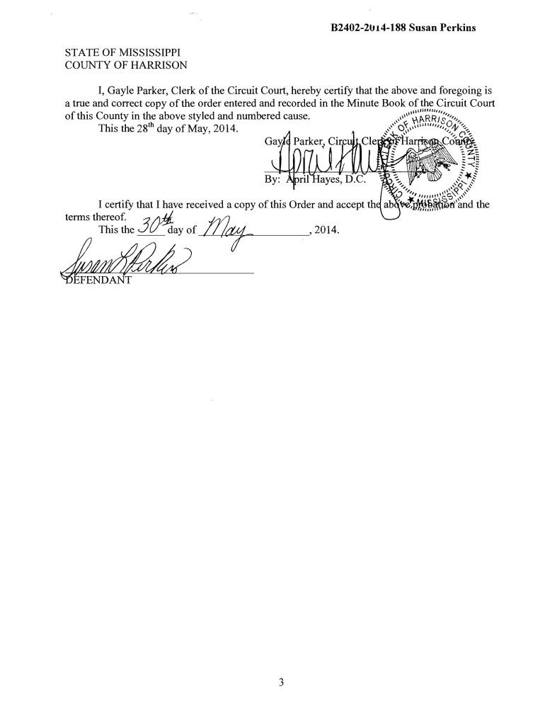 Susan Perkins Official Signature