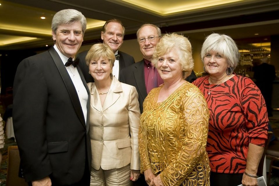 From L to R: Phil and Deborah Byrant, Morris Strickland, John McKay, Lucy Strickland, and Linda McKay all pose for a photo during the WAMA Gala at the IP Casino in Biloxi, Miss., on Saturday, April 24, 2010. (Joshua Dahl, Correspondent, al.com) Photo property of Advance Publications shown on Slabbed via Fair Use