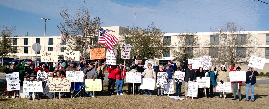 Image courtesy of a reader | 2-26-15 SRHS Retiree Ocean Springs Hospital Protest