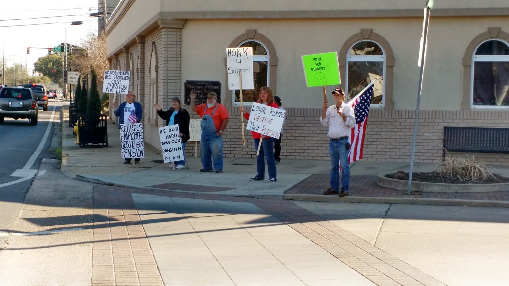 Reader Submitted Photo | SRHS Retiree protest