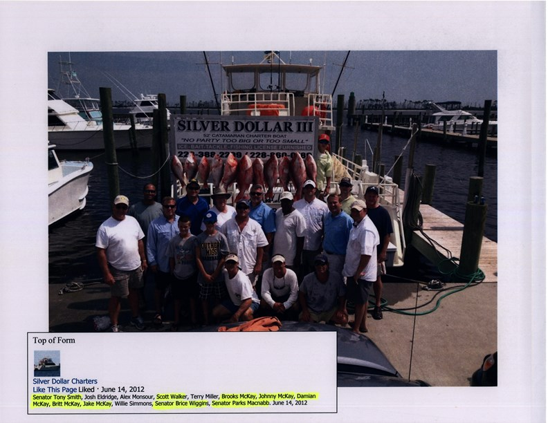 Taxpayer funded charter fishing trips circa 2012 from DMR scandal.  Courtesy of a Reader