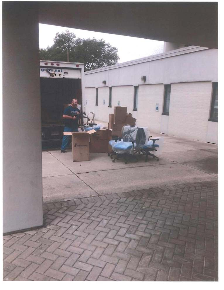 Photo of Furniture Delivery at the Bolton Building Courtesy of an Anonymous Reader