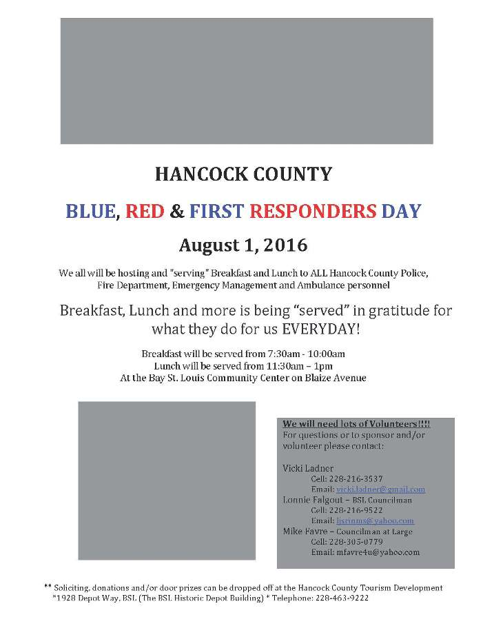 Hancock County Red Blue and First Responders Day