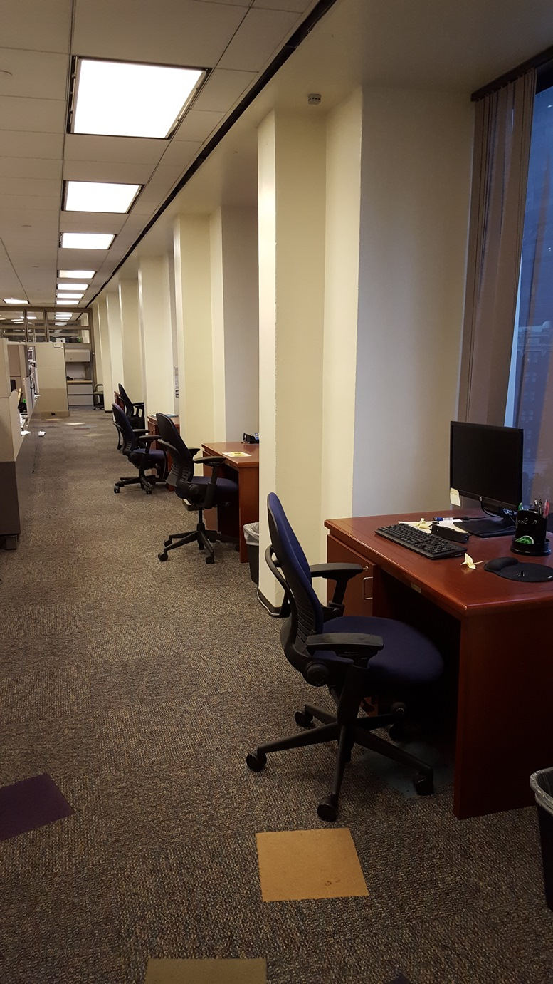 Reader Submitted Photo of the Royal Dutch Shell Special Projects Office in New Orleans, Louisiana. Desks that were once occupied with college educated engineers have been empty for well over a year