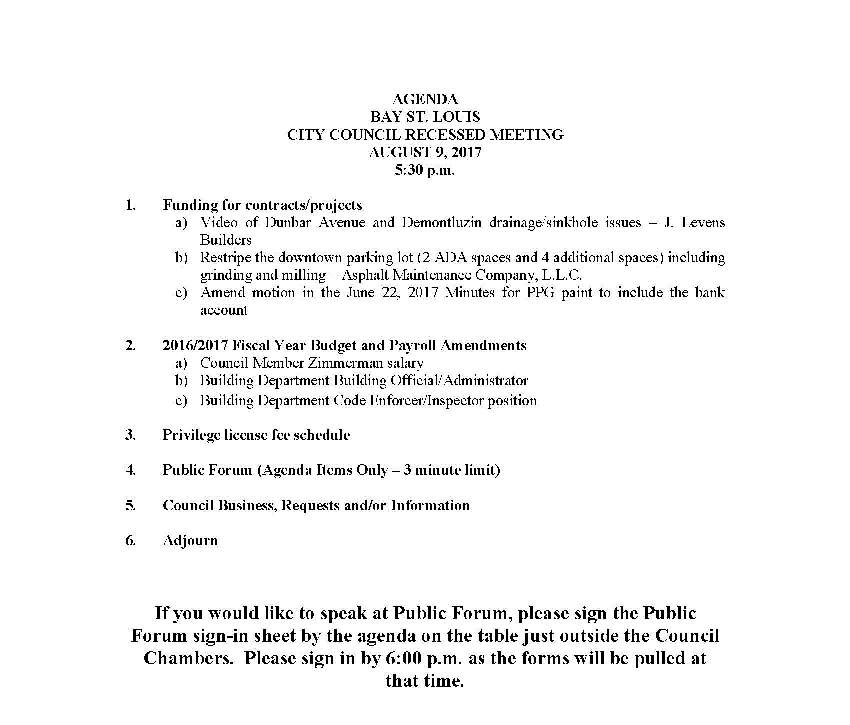 08-09-17 Agenda - recessed