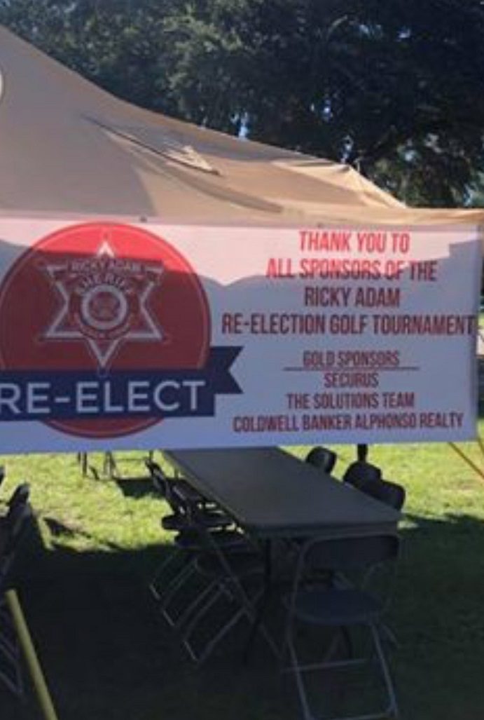 Sheriff Adam Fund Raiser using County EMS Tent | Reader submitted photo